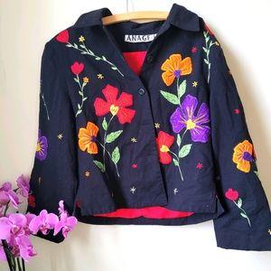 Vintage !! Anage Jacket 🍒🌺